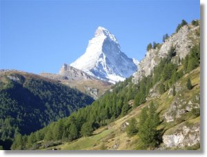summertime view of the Matterhorn from the apartment